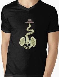 Crooked Spine Mens V-Neck T-Shirt