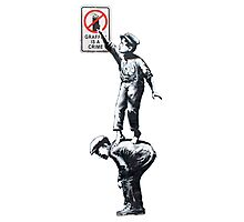 Banksy - Graffiti is a crime Photographic Print
