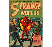 Strange Worlds - The Monster Men of Space Photographic Print