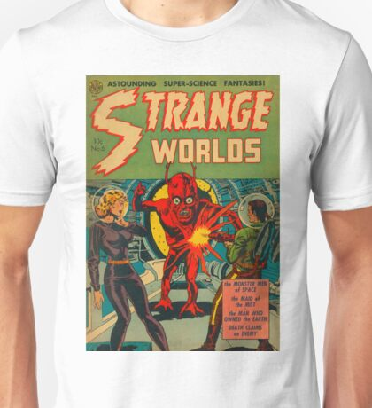 Strange Worlds - The Monster Men of Space Unisex T-Shirt