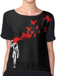 Banksy - Girl Suicide Chiffon Top