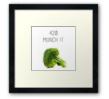 420 Munch It Framed Print