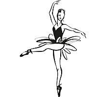 Ballerina - Ballet Dancer hand drawn illustration Photographic Print