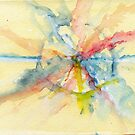 Abstract watercolor Flower by Simon Rudd
