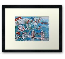 A wet London morning Framed Print