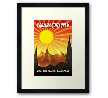 Proxima Centauri b Exoplanet Travel Illustration Framed Print