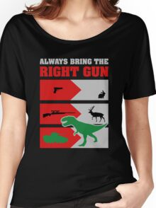 RIGHT GUN funny Dinosaurs Women's Relaxed Fit T-Shirt