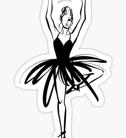 Ballet Dancer hand drawn graphic illustration Sticker