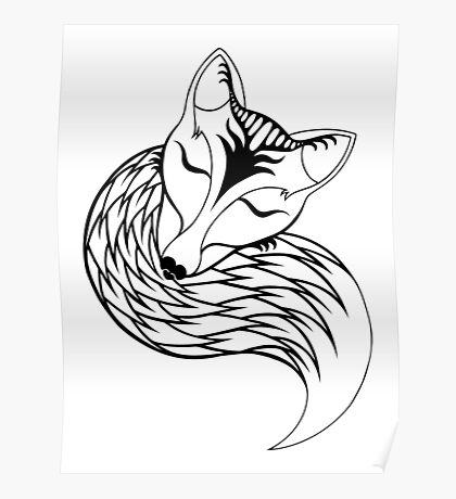 Tranquil Fox Poster