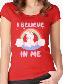 Cute Unicorn Women's Fitted Scoop T-Shirt