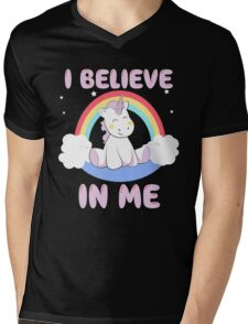 Cute Unicorn Mens V-Neck T-Shirt