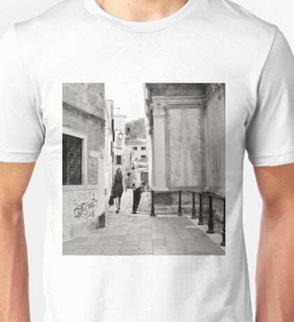 Venetian Lady In The Polka Dot Dress Unisex T-Shirt