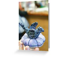 """Hoffman Fabrics; """"Puts the creatitivy in young hands"""" Greeting Card"""
