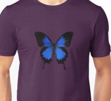 Black and Blue Batterfly Unisex T-Shirt