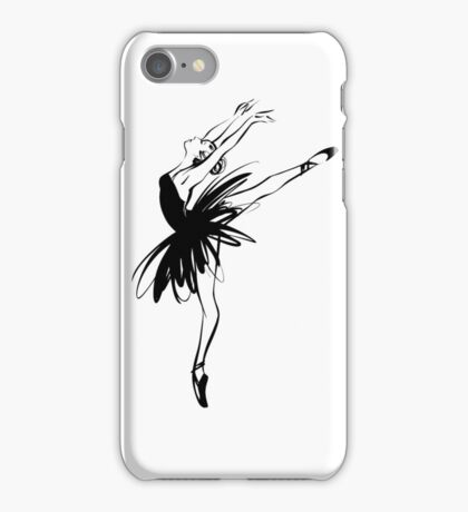 Ballerina in tutu in performance position. iPhone Case/Skin