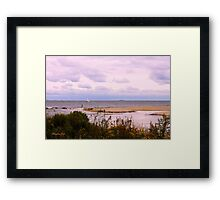 Sandbar ~ Sailboat ~ Soliloquy Framed Print