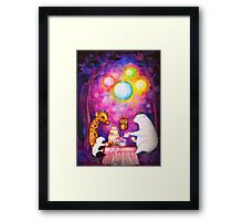 Magical Midnight Tea Party Framed Print