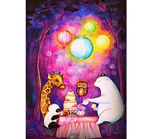 Magical Midnight Tea Party Photographic Print