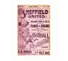 Sheffield United Football Club programme, 1899 Art Print