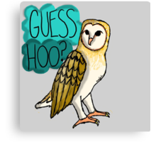 Guess Hoo? Canvas Print