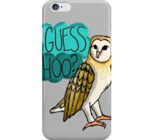 Guess Hoo? iPhone Case/Skin