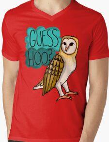 Guess Hoo? Mens V-Neck T-Shirt
