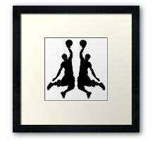 Basketball Dunk Mirror Image Framed Print