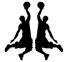 Basketball Dunk Mirror Image Photographic Print