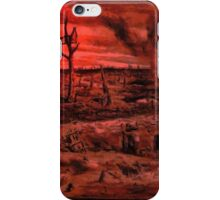 A digital painting of No Man's Land, World War 1 iPhone Case/Skin