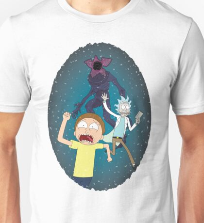 Rick and Morty go to the Upside Down Unisex T-Shirt