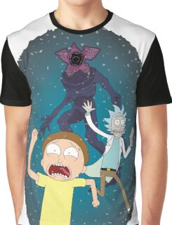 Rick and Morty go to the Upside Down Graphic T-Shirt