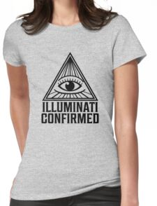 Illuminati Confirmed Womens Fitted T-Shirt