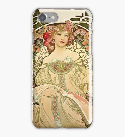 Alphonse Mucha - Champagne 1897  iPhone Case/Skin