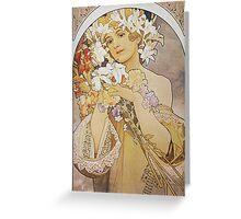 Alphonse Mucha - Flowers 1897  Greeting Card