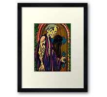 Zombie at the door Framed Print