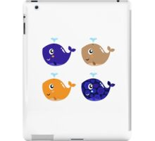 Whales, whales.. 4 floral cute whales Gift illustration / author originals iPad Case/Skin