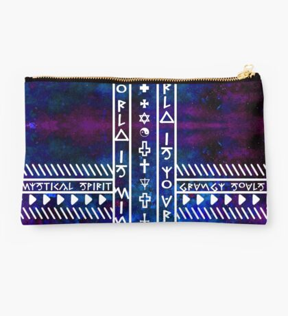 My World is Yours Universe pattern Religious symbols Studio Pouch