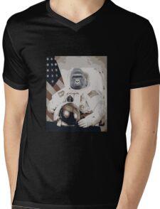 Harambe Astronaut Mens V-Neck T-Shirt