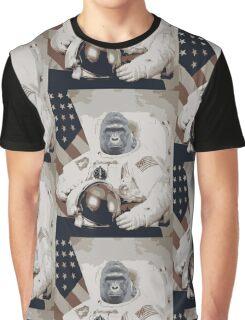 Harambe Astronaut Graphic T-Shirt