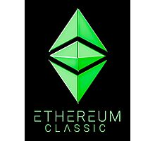 Ethereum Classic simple (green metal) Photographic Print