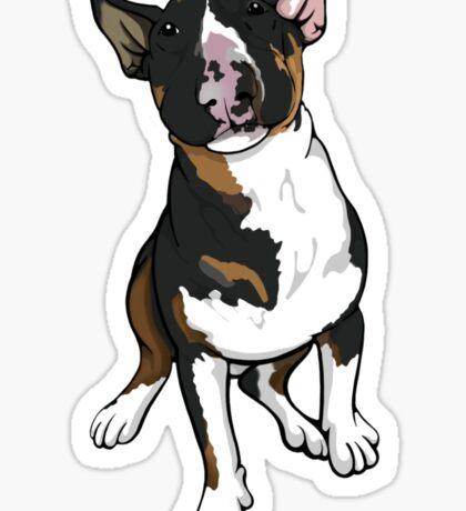 Freddie English Bull Terrier Sticker