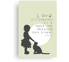 Love Is Canvas Print