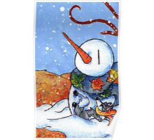 The First Snowman of the Season! Poster