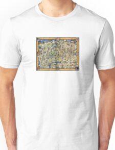 London Vintage Map Poster Restored Unisex T-Shirt