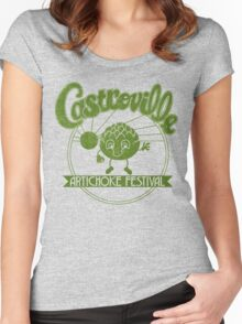 Strange Artichoke Women's Fitted Scoop T-Shirt
