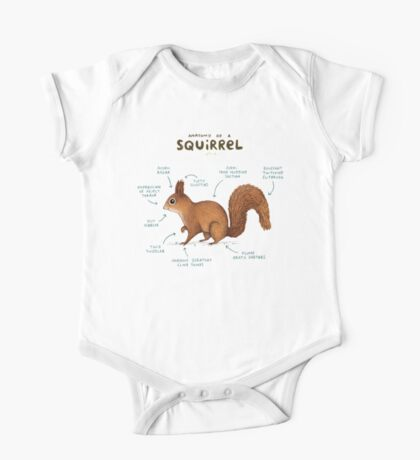 Anatomy of a Squirrel One Piece - Short Sleeve