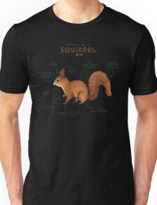 Anatomy of a Squirrel Unisex T-Shirt