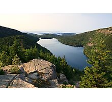 Jordan Pond from North Bubble, Acadia National Park, Maine Photographic Print