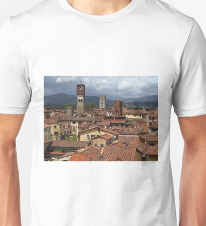 Towers and Roof Tops, Lucca Unisex T-Shirt