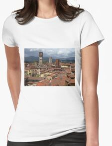 Towers and Roof Tops, Lucca Womens Fitted T-Shirt